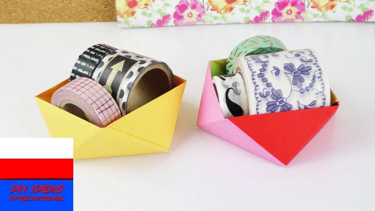 Origami | pomysł na pudełko | dekoracja biurka | praktyczny pomysł
