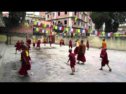 Sunday play time at Jonang Monastery Kathmandu Nepal --Sun or Rain