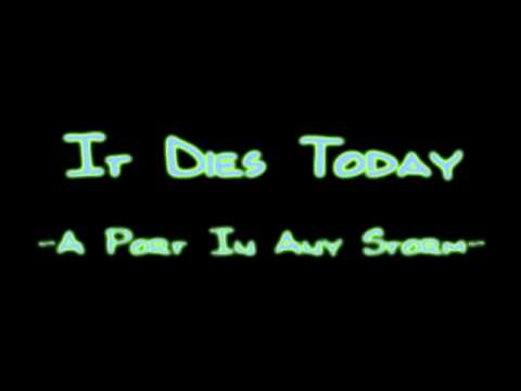 It Dies Today - A Port In Any Storm