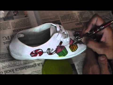 Aerografia Zapatillas chuches