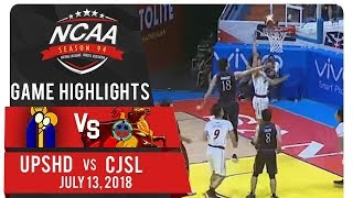NCAA 94 MB: UPHSD vs CSJL | Game Highlights | July 13, 2018