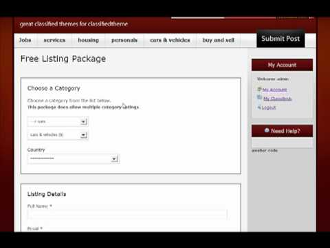 Wordpress Classifieds Theme To Start Classifed Website
