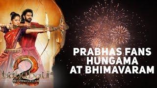 #Baahubali 2 - Prabas Fans Hungama at Bhimavaram