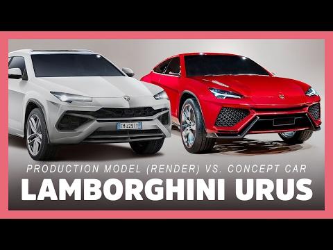 2018 Lamborghini Urus Suv: Production Model Vs. Concept Car