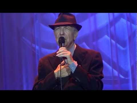 Leonard Cohen, sings Closing time to a 13000 strong audience at the Olympic stadium in Amsterdam on August 22nd 2012. the Audience do not want him to go and...