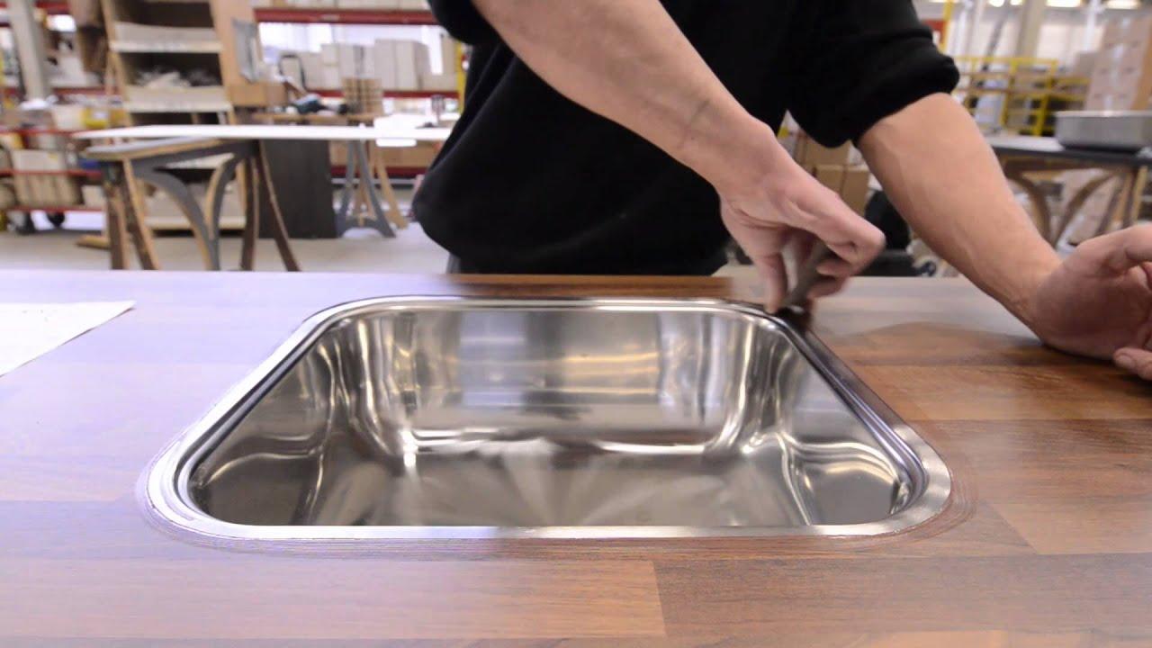 Tulp Keukens Fabriek - Monteren Spoelbak - YouTube