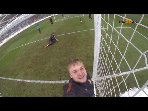 Goalkeepers training. Pyatov's team against Shevchenko's team