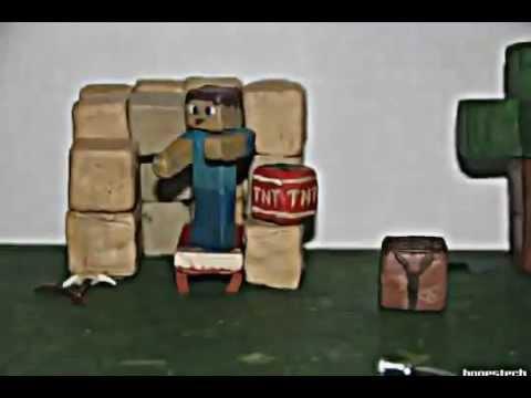 Как из пластилина сделать майнкрафт видео