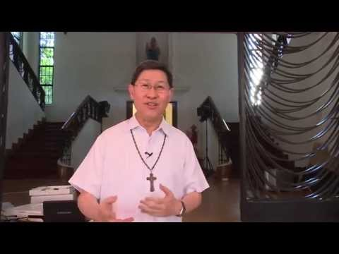 Cardinal Tagle thanking EWTN in behalf of Radio Veritas