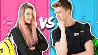 BACK TO SCHOOL Guys Vs. Girls Challenge + Giveaway 2016 | Collins Key & Jessie Paege