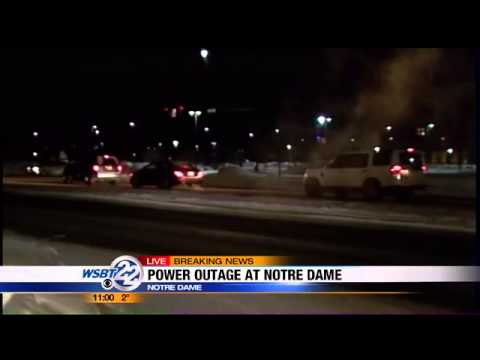Power outage at Notre Dame