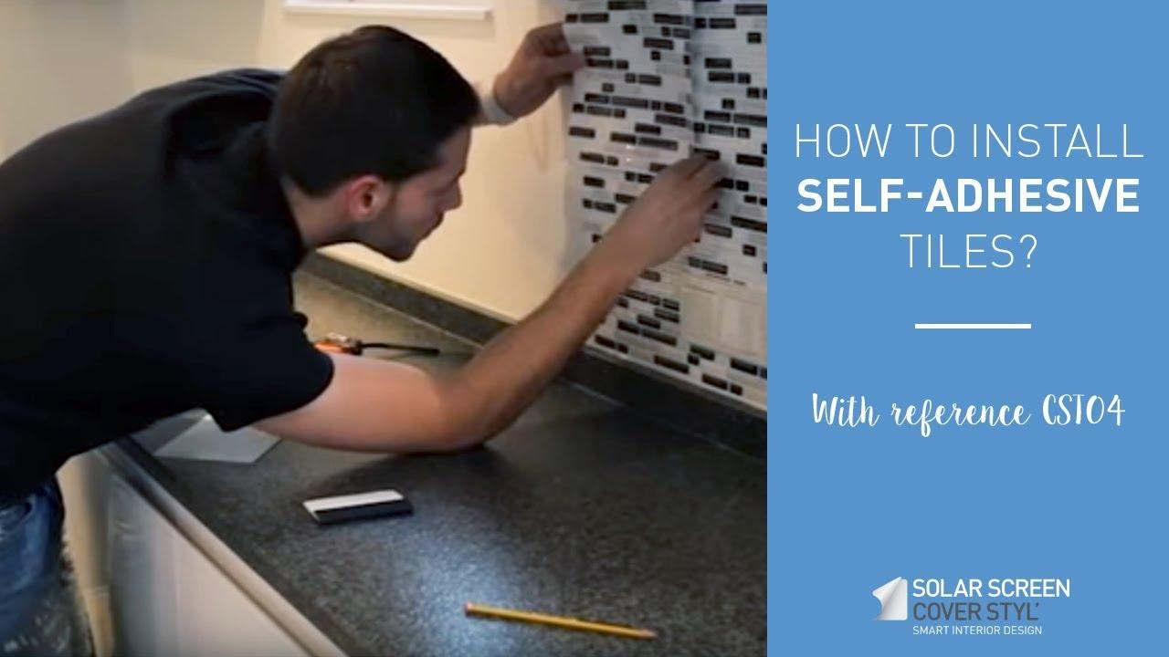 How to install backsplash tiles