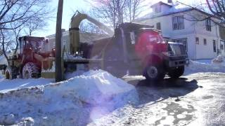 Cat 938G Snowblower Loading Truck