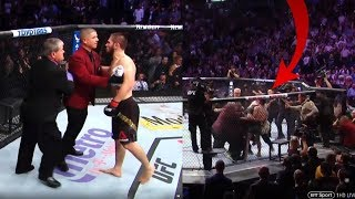 UFC 229 Khabib's team shamefully attacks Connor McGregor seconds after tapping out
