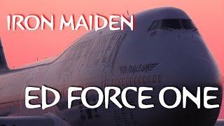 Sunrise!!! IRON MAIDEN ED FORCE ONE TOKYO HANEDA AIRPORT