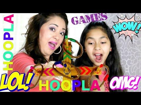 Playing HOOPLA Family Game | B2cutecupcakes