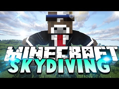 Minecraft SKYDIVING Server Minigame - ( Thimble Mini-game in Minecraft )
