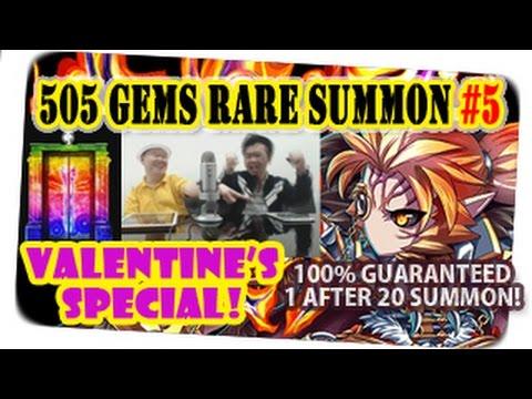 Valentine Special! 505 Gems Rare Summon For Ravenna & Randolph (Brave Frontier Global) With Milko #5