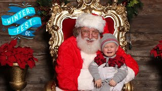 Cute Baby Terrified of Santa at Winter Fest OC