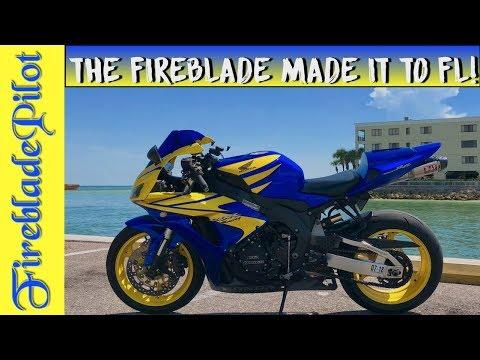 THE FIREBLADE MADE IT TO FLORIDA! | CBR1000RR Motovlog | CBR1000RR florida