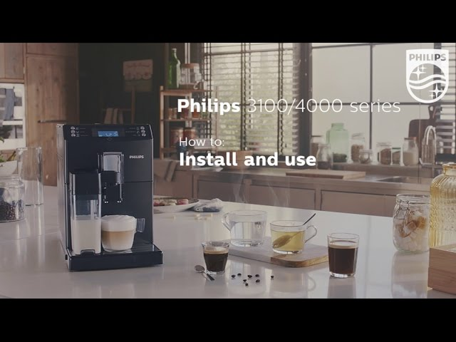 First time use and how to customize settings on Philips espresso machines 3100 and 4000 series