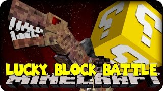 Minecraft - LUCKY BLOCK BOSS CHALLENGE - TRANSFORMERS DINOSAUR?! (Lucky Block Mod )