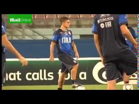 Pirlo and Immobile lead Italy training...
