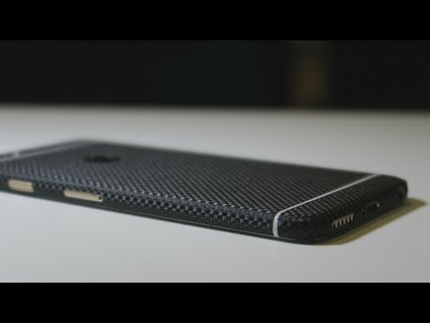 EasySkinz iPhone 6 3D Textured CARBON Fiber Skin Black