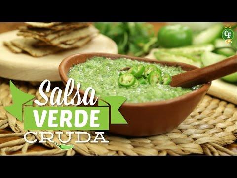 Cómo preparar Salsa Verde Cruda? - Cocina Fresca - YouTube