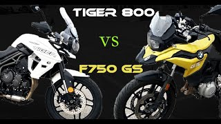 Fabike #Essai Tiger 800 xrx vs F 750gs // Entre force et sagesse!!