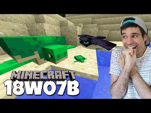 ¡¡ NUEVO MINECRAFT CON TORTUGAS Y FANTASMAS !! | Minecraft Snapshot 18w07b Review
