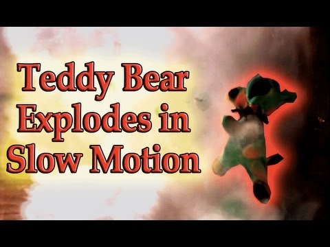 Teddy Bear Explodes in Slow Motion