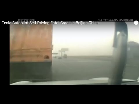 Tesla Autopilot Self Driving Fatal Crash China Full Footage