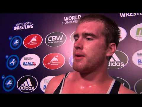 Nathan Butler after winning 120 kg Bronze at UWW Junior Worlds