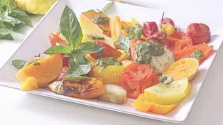 Запекаем Овощи и быстро готовим Песто.