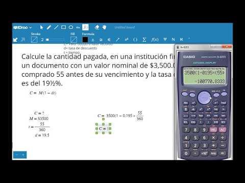 Descuento Simple Comercial o Bancario - Alexander López