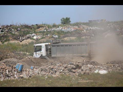 В Красном Сулине горит свалка которая официально закрыта