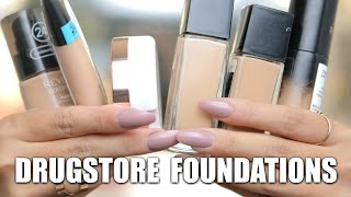 THE BEST DRUGSTORE FOUNDATIONS!