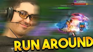 THIS IS THE RUN AROUND UDYR! (SCRIMS VS TARZANED) - Trick2g