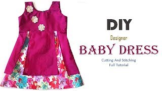 DIY Designer Baby Dress Cutting And Stitching full Tutorial