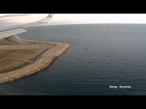 Посадка в Ницце, Embraer 190, KLM - Landing in Nice Embraer 190 KLM