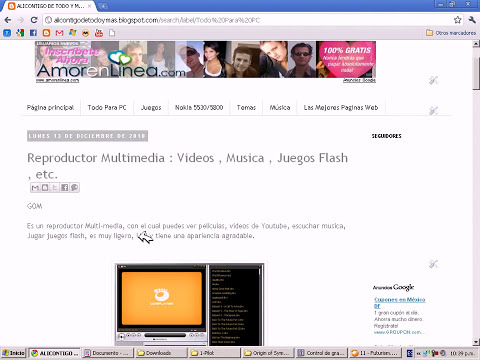El Mejor Reproductor Multimedia - Reproduce Videos, Juegos Flash, Mp3.avi