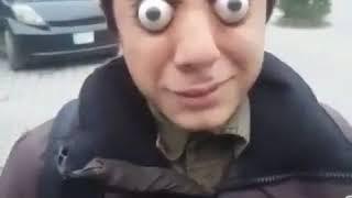 Strange Kid doing strange tricks with eyes
