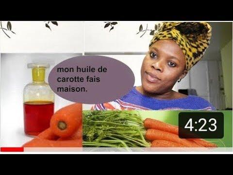 Mon huile de carotte fait maison. illumine et donne de l'eclat a la peau | famo sita