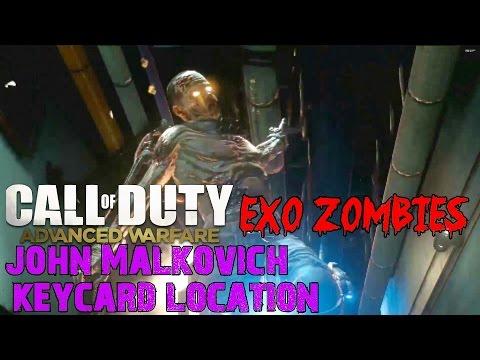 Advanced Warfare EXO ZOMBIES▐ Easter Egg: John Malkovich Keycard Location