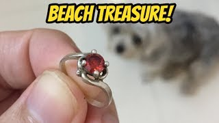 Metal Detecting Finds at the Beach, Coins, Jewelry Underwater