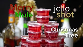 Cranberry Mule Christmas Tree Shots • Tasty