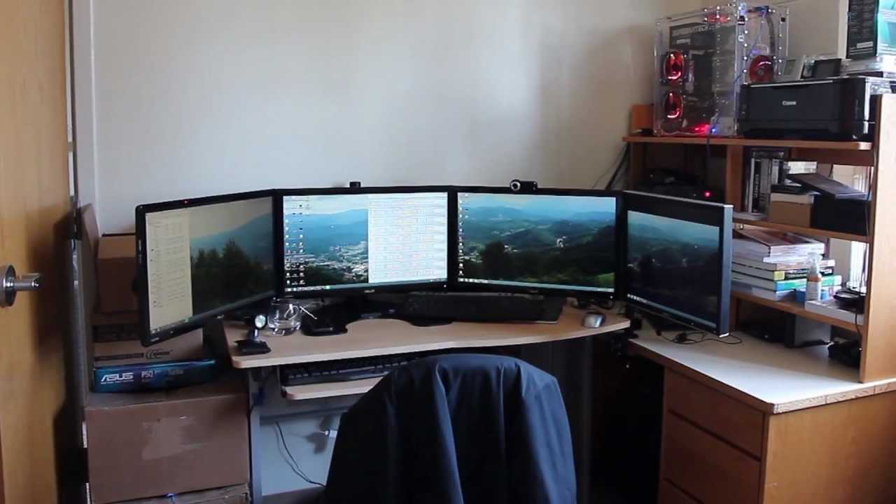Mechrocktech 39 s epic dorm room setup youtube for Cool dorm room setups