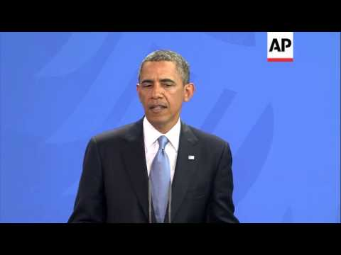 President Obama comments on talks with Taliban and NSA surveillance