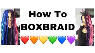 How To Do Boxbraids (Tekashi69 Hair/Pride LGBT+)